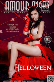 Only one look in the eyes of this fantastic slim teen will tell that she is a little devil inside. No further costume is needed.