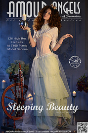 She look like just came from fairy tales. Awaken fresh Sleeping Beauty offering herself in best possible way.