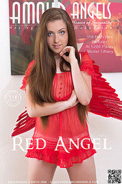 A teen angel with burning lust flapped her wings down from the sky to show her sexy curves and shining beauty.