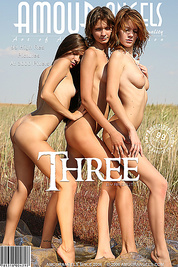 Three svelte teens with small tight butts having fun and posing their curves outdoors