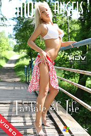 Irresistibly beautiful teen girl with a sweet smile is always glad to expose her admirable body in front of the camera.