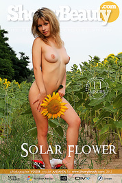 Juicy movies of marvelous chick stripping and posing naked in the field among the sunflowers.