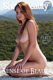 Delicious long haired bombshell undressing and demonstrating holes outdoor on the plateau.