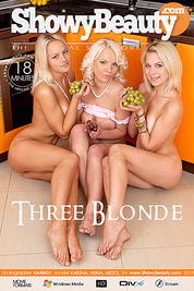 Three sexy blonde lesbian teens posing in the kitchen with a bunch of grapes in these movs.